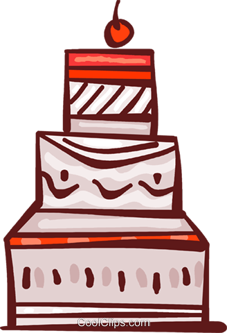 Cakes and Pastries Royalty Free Vector Clip Art illustration vc108768