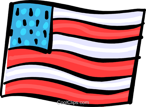 USA Flag Royalty Free Vector Clip Art illustration vc108966