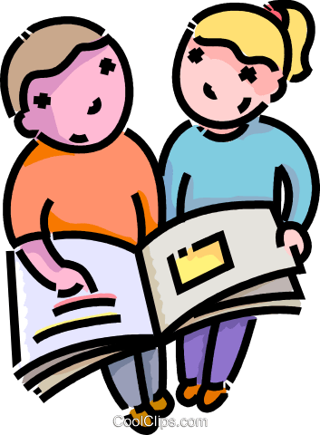 Freunde Ein Buch Zu Lesen Vektor Clipart Bild Vc109142 Coolclipscom
