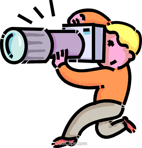 boy taking pictures with his camera Royalty Free Vector Clip Art illustration vc109152