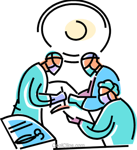 Doctors In Surgery Royalty Free Vector Clip Art Illustration