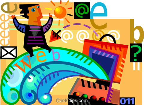 Information Highway Vektor Clipart Bild vc109280
