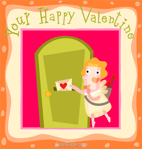 valentines day card Royalty Free Vector Clip Art illustration vc109358