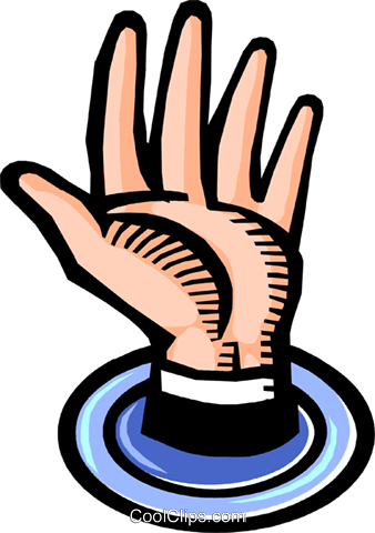 Hands Working Royalty Free Vector Clip Art illustration vc109412