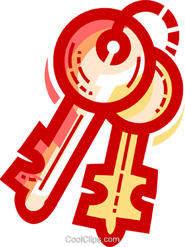Keys and Locks Royalty Free Vector Clip Art illustration vc109741