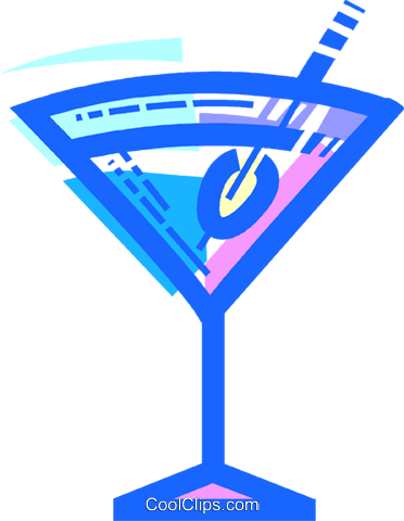 Cocktails and Mixed Drinks Royalty Free Vector Clip Art illustration vc109932