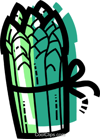 Bundle of Asparagus Royalty Free Vector Clip Art illustration vc109963