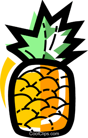 Pineapples Royalty Free Vector Clip Art illustration vc109967