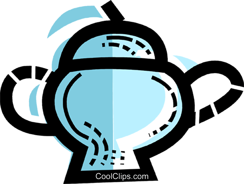 Teapots Royalty Free Vector Clip Art illustration vc109972