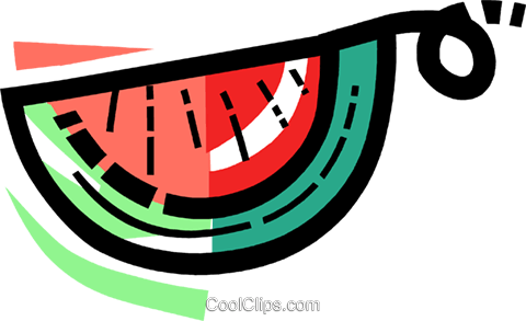 Watermelons Royalty Free Vector Clip Art illustration vc109976