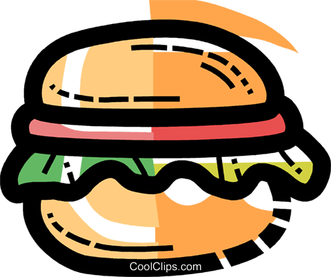 Hamburgers Royalty Free Vector Clip Art illustration vc109977