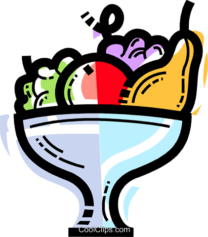 Fruit Bowls Royalty Free Vector Clip Art illustration vc109981