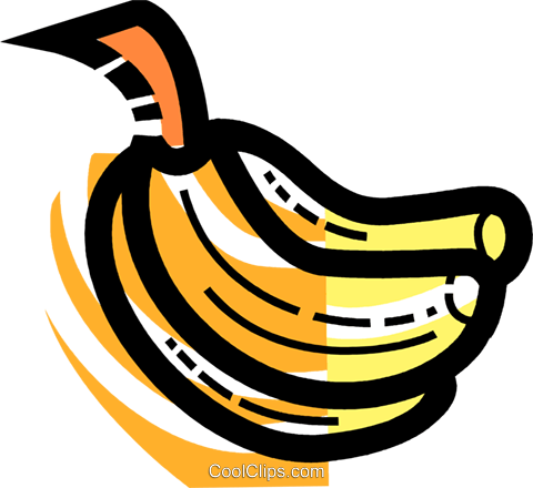 Bananas Royalty Free Vector Clip Art illustration vc109985