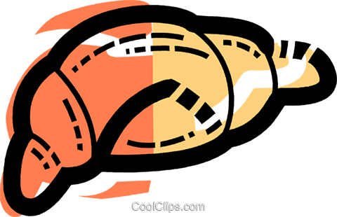 Croissants Royalty Free Vector Clip Art illustration vc110005
