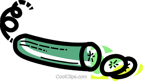 Cucumbers Royalty Free Vector Clip Art illustration vc110017