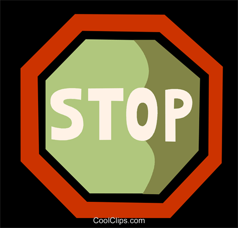 Stop Sign Royalty Free Vector Clip Art illustration vc110049
