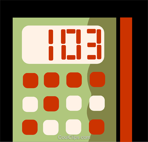 Calculators Royalty Free Vector Clip Art illustration vc110059