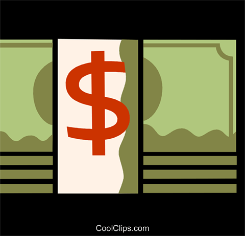 Dollars Royalty Free Vector Clip Art illustration vc110070