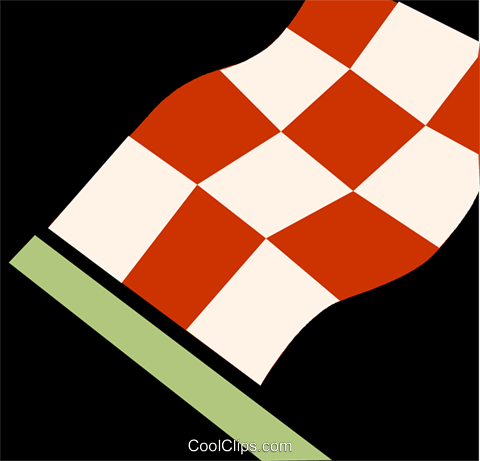 checkered flag Royalty Free Vector Clip Art illustration vc110074