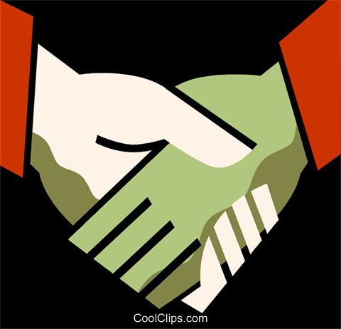 Shaking Hands Royalty Free Vector Clip Art illustration vc110084