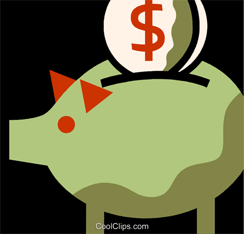 Piggy Banks Royalty Free Vector Clip Art illustration vc110088