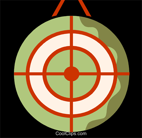 Targets and Objectives Royalty Free Vector Clip Art illustration vc110091