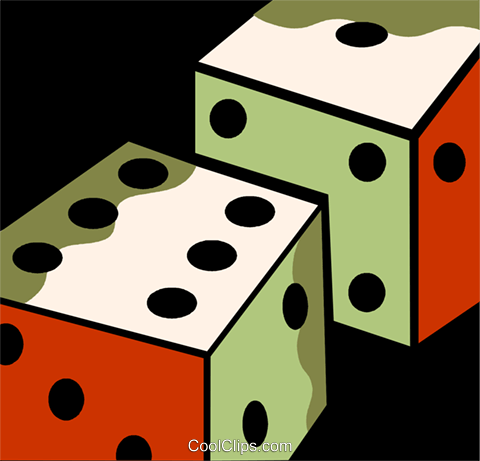 Dice Royalty Free Vector Clip Art illustration vc110101