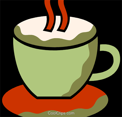 Cups of Coffee Royalty Free Vector Clip Art illustration vc110118