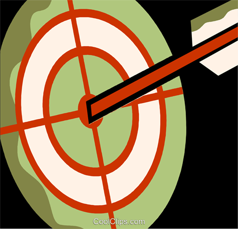 Archery Royalty Free Vector Clip Art illustration vc110130