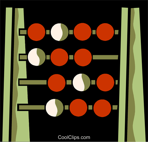 Abacus Royalty Free Vector Clip Art illustration vc110140