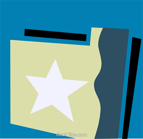 File Folders Royalty Free Vector Clip Art illustration vc110178