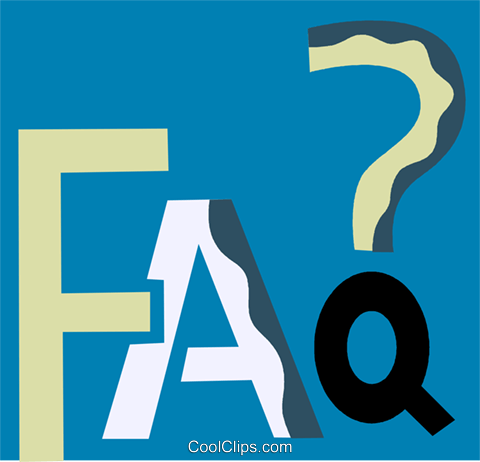 faq Royalty Free Vector Clip Art illustration vc110180