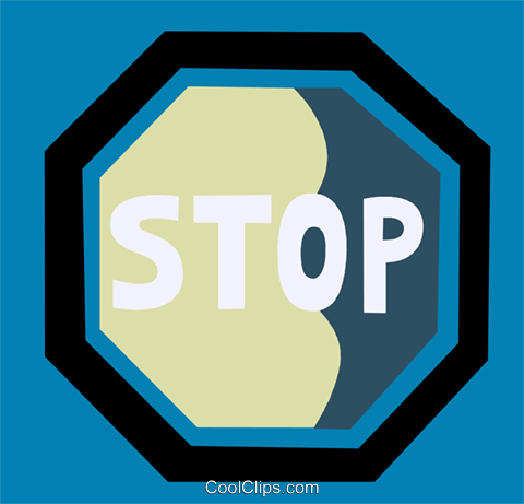 Stop Sign Royalty Free Vector Clip Art illustration vc110185