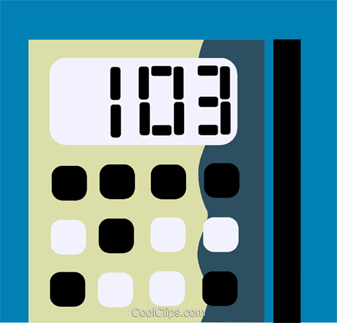 Calculators Royalty Free Vector Clip Art illustration vc110195