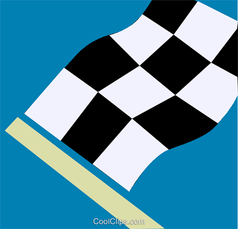 checkered flag Royalty Free Vector Clip Art illustration vc110210