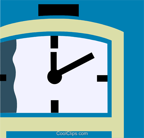 Punch Clocks Royalty Free Vector Clip Art illustration vc110217