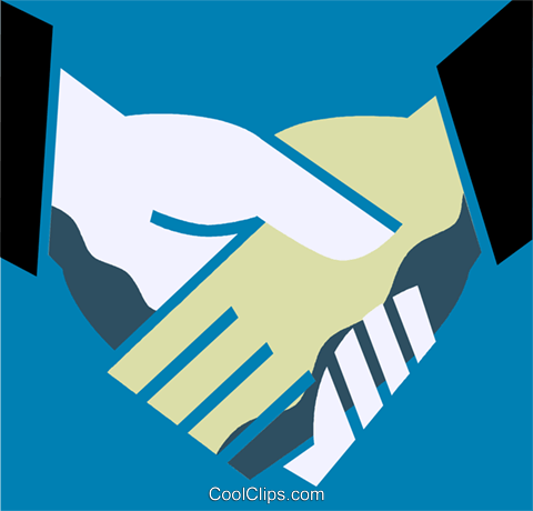 Shaking Hands Royalty Free Vector Clip Art illustration vc110220