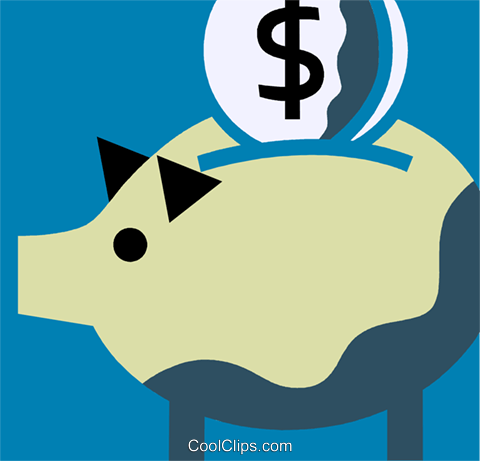 Piggy Banks Royalty Free Vector Clip Art illustration vc110224