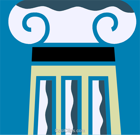 Column or Pedestal Royalty Free Vector Clip Art illustration vc110226