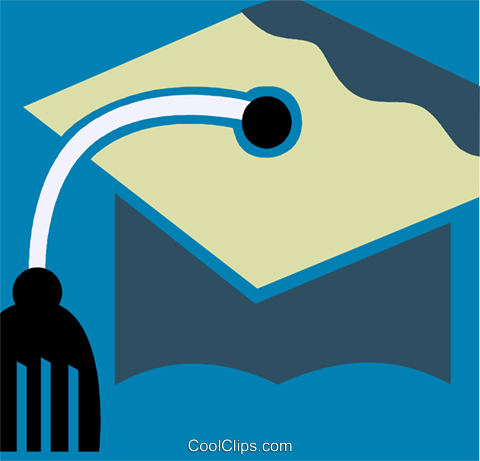 Mortar Boards Royalty Free Vector Clip Art illustration vc110230