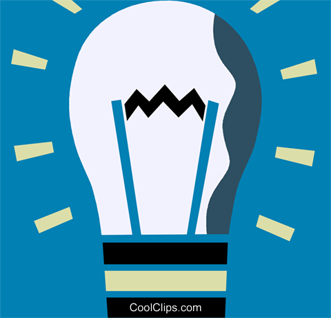 Idea Light bulbs Royalty Free Vector Clip Art illustration vc110234