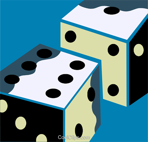 Dice Royalty Free Vector Clip Art illustration vc110237