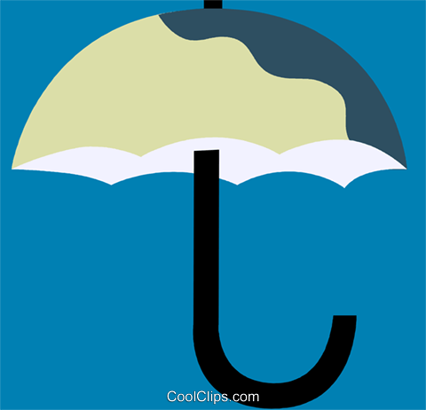 Umbrellas Royalty Free Vector Clip Art illustration vc110239