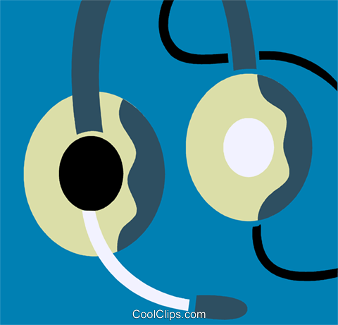 Headphones Royalty Free Vector Clip Art illustration vc110244