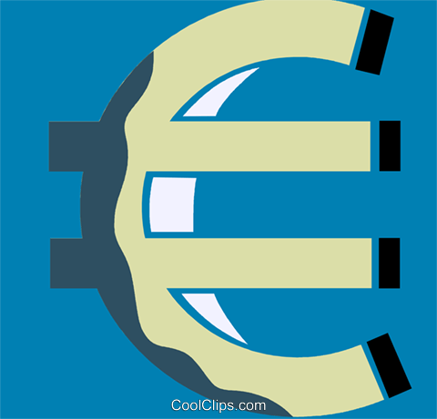euro Royalty Free Vector Clip Art illustration vc110249