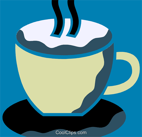 Cups of Coffee Royalty Free Vector Clip Art illustration vc110254