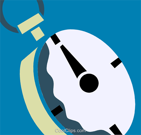 Stopwatches Royalty Free Vector Clip Art illustration vc110270