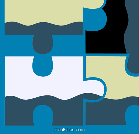 Pieces of a Puzzle Royalty Free Vector Clip Art illustration vc110285