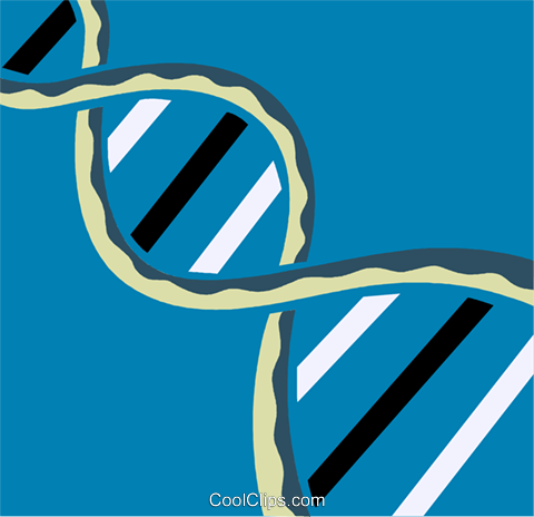 DNA Royalty Free Vector Clip Art illustration vc110288