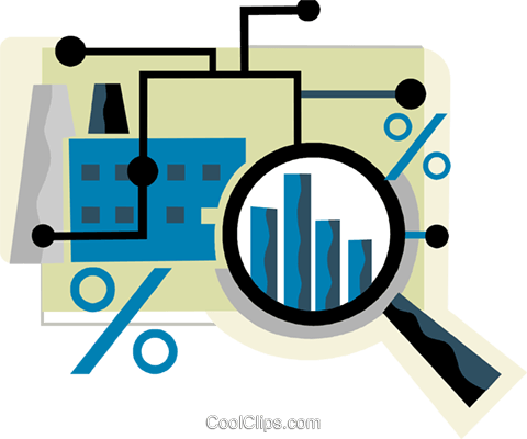 Charting Success Royalty Free Vector Clip Art illustration vc110290